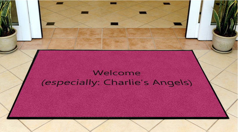 Charlie 3 X 5 Rubber Backed Carpeted HD - The Personalized Doormats Company