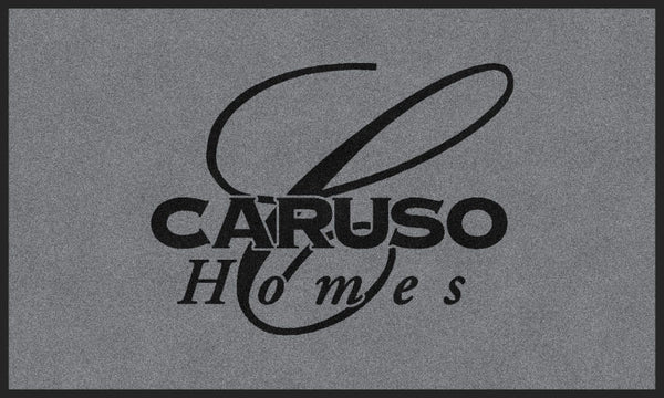 Caruso (Sample) Grey 3 X 5 Flocked Olefin 1 Color - The Personalized Doormats Company