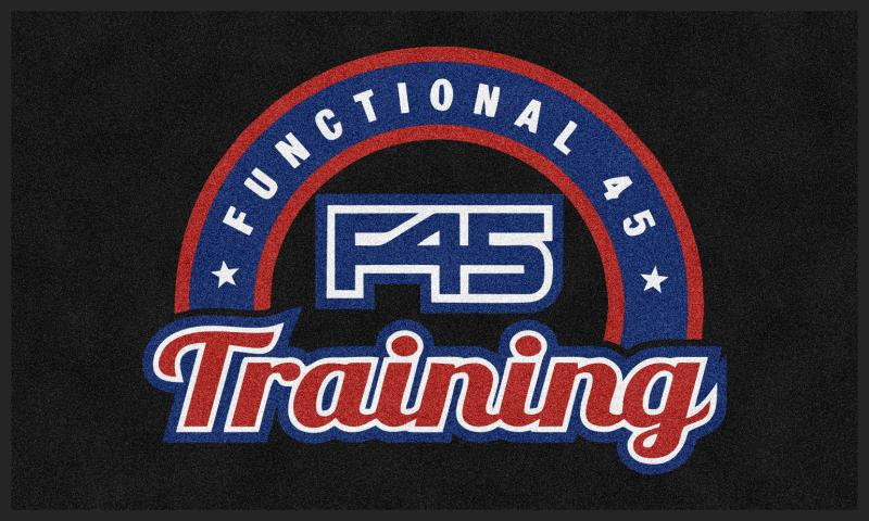 F45 Training kings ridge 3 X 5 Rubber Backed Carpeted HD - The Personalized Doormats Company