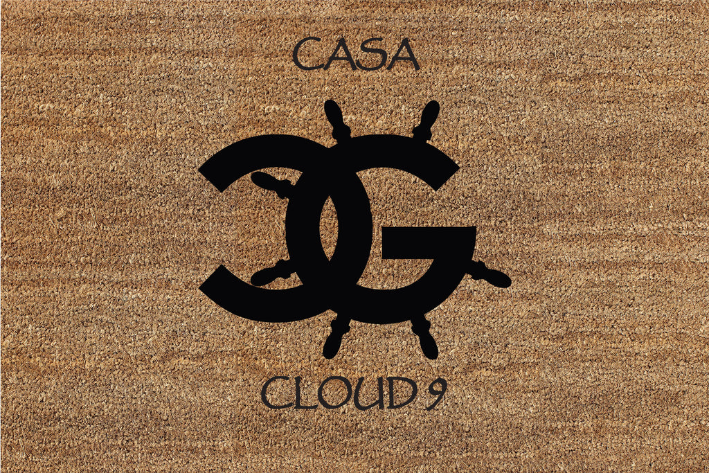 CG LOGO (Casa Cloud 9) 2 X 3 Flocked Classic Coir (PDC) - The Personalized Doormats Company