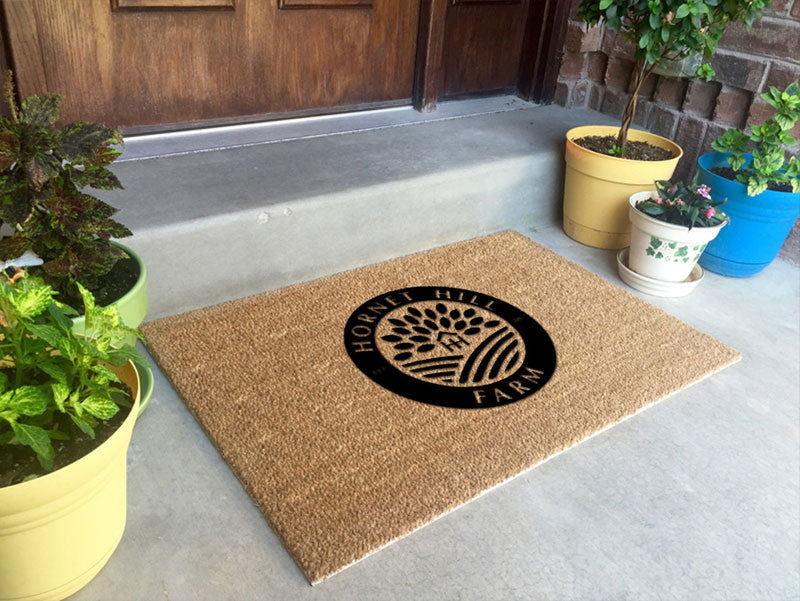 Hornet Hill Farm 2 X 3 Flocked Classic Coir (PDC) - The Personalized Doormats Company
