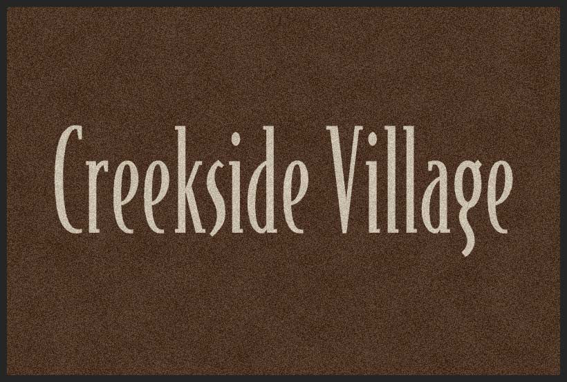 Creekside - large 4 X 6 Rubber Backed Carpeted HD - The Personalized Doormats Company