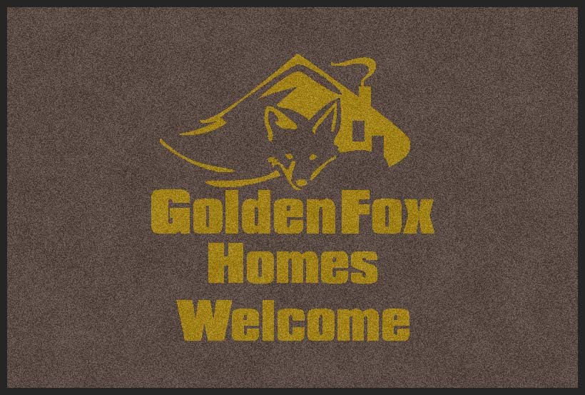 Golden Fox Homes 2 X 3 Flocked Olefin 1 Color - The Personalized Doormats Company