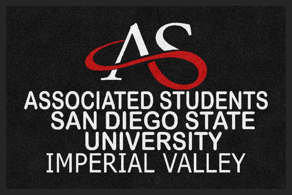 AS SDSU 2 x 3 Rubber Backed Carpeted - The Personalized Doormats Company