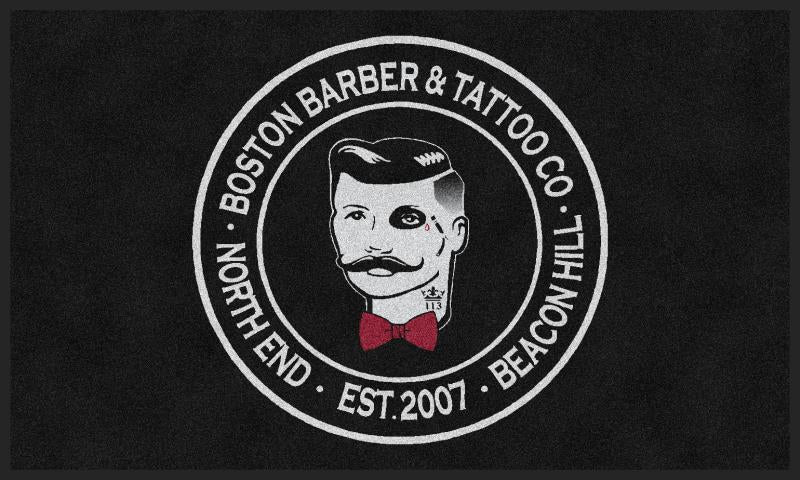 boston barber 3 X 5 Rubber Backed Carpeted HD - The Personalized Doormats Company