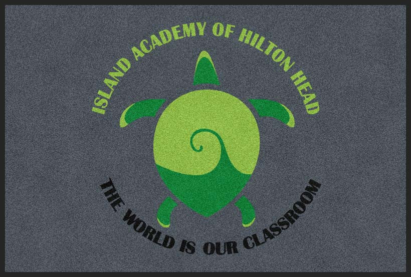 Island Academy of Hilton Head 4 X 6 Rubber Backed Carpeted HD - The Personalized Doormats Company