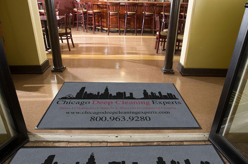 CHICAGO HOUSEHOLD SERVICE, LLC 4 X 6 Rubber Backed Carpeted HD - The Personalized Doormats Company