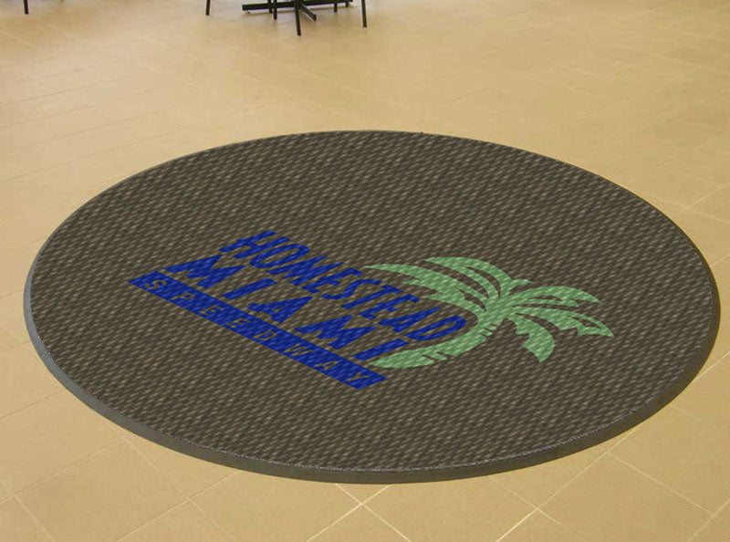 Homestead Miami Speedway 23 X 23 Luxury Berber Inlay - The Personalized Doormats Company