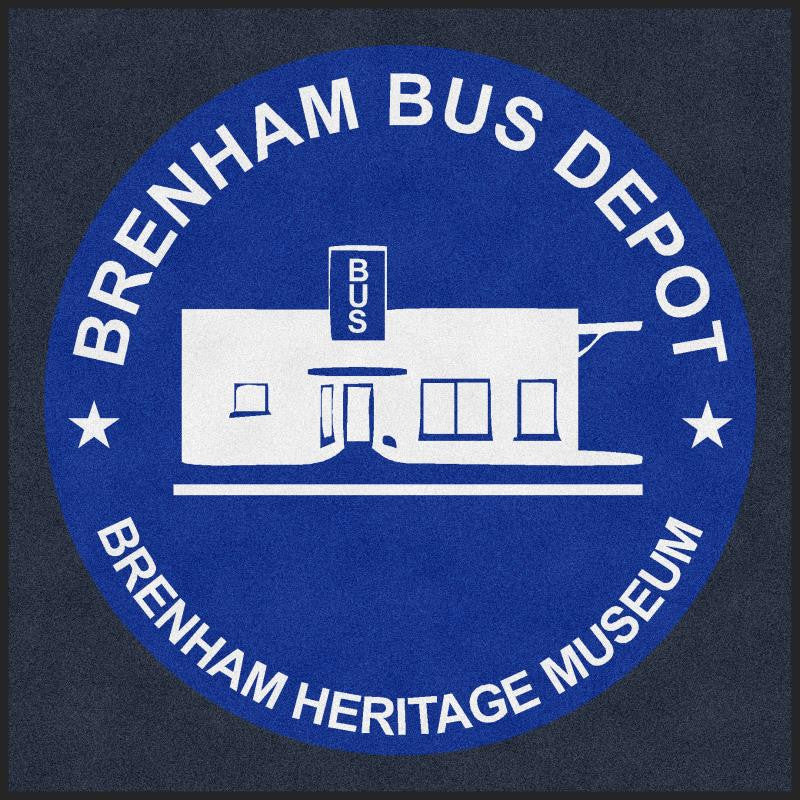 Brenham Bus Depot 6 X 6 Rubber Backed Carpeted HD - The Personalized Doormats Company