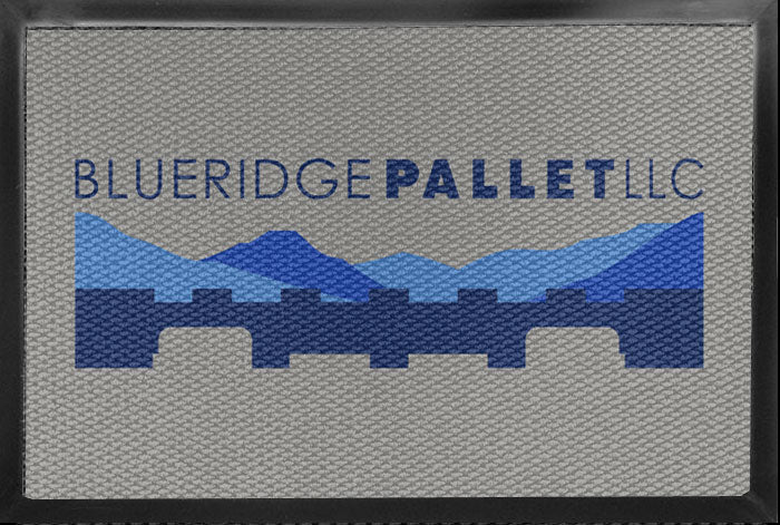 Blue Ridge Pallet 4 X 6 Luxury Berber Inlay - The Personalized Doormats Company