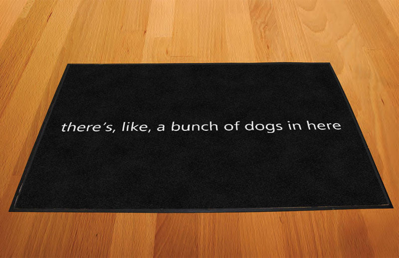 Dog mat 2 X 3 Rubber Backed Carpeted HD - The Personalized Doormats Company