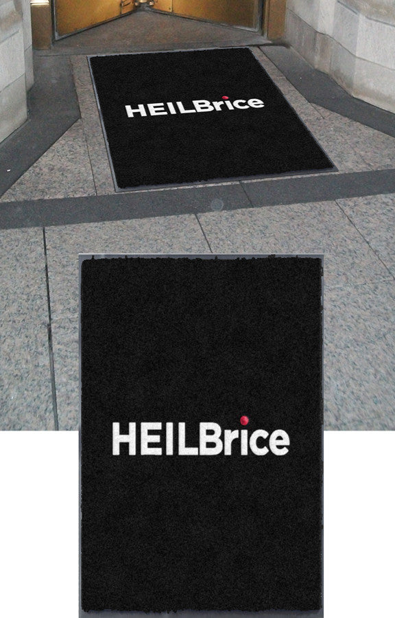 HEILBrice 3 x 4 Flocked Olefin 2 Color - The Personalized Doormats Company