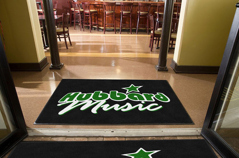 Hubbard Music 4 X 6 Rubber Backed Carpeted - The Personalized Doormats Company