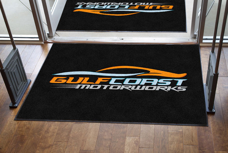 Gulf Coast Motorworks 4 X 6 Rubber Backed Carpeted HD - The Personalized Doormats Company