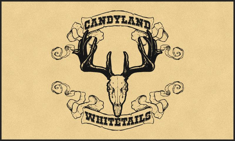 Candyland Whitetails 6 X 10 Rubber Backed Carpeted HD - The Personalized Doormats Company