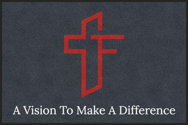 Foundation Church 4 X 6 Rubber Backed Carpeted HD - The Personalized Doormats Company