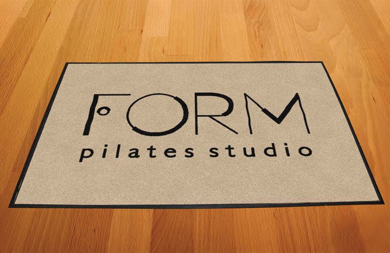 Form Pilates Studio 2 X 3 Rubber Backed Carpeted HD - The Personalized Doormats Company