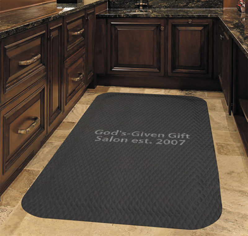 God's-Given Gift Salon est. 2007 4 X 6 Anti-Fatigue - The Personalized Doormats Company
