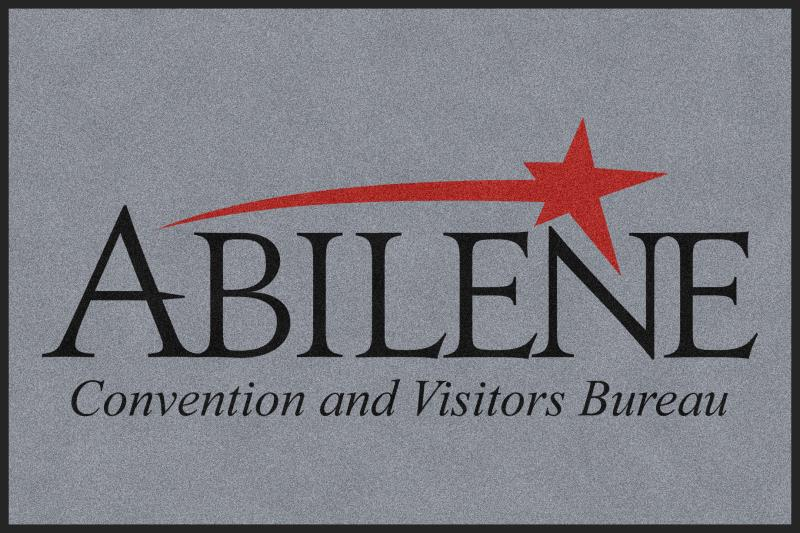 Abilene Convention and Visitors Bureau 4 X 6 Rubber Backed Carpeted HD - The Personalized Doormats Company