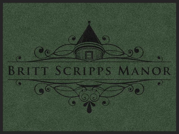 BRITT SCRIPPS MANOR (L6) 4 X 6 Rubber Backed Carpeted HD - The Personalized Doormats Company
