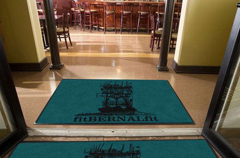 fitBERNALfit 4 X 6 Rubber Backed Carpeted HD - The Personalized Doormats Company