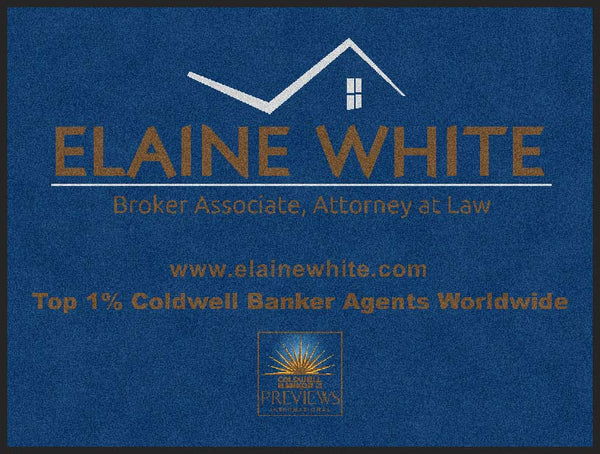 Elaine White Attorney 3 X 4 Rubber Backed Carpeted HD - The Personalized Doormats Company