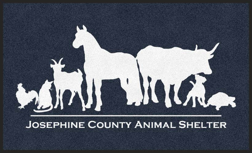 Josephine County Animal Shelter 3 X 5 Rubber Backed Carpeted HD - The Personalized Doormats Company