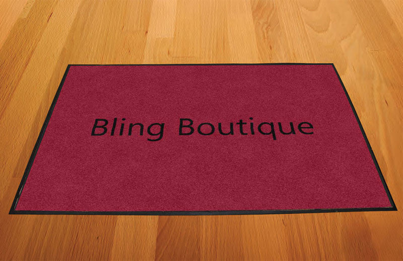Bling Boutique 2 X 3 Rubber Backed Carpeted HD - The Personalized Doormats Company