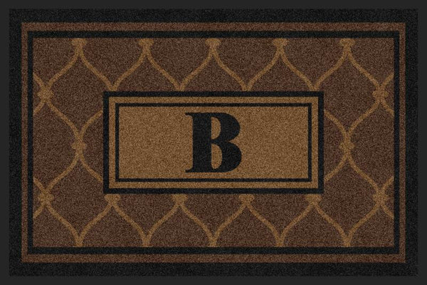 Chain Link Mat G1 2 X 3 Rubber Backed Carpeted HD - The Personalized Doormats Company
