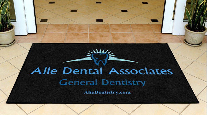 Alie Dental 3 X 5 Rubber Backed Carpeted HD - The Personalized Doormats Company