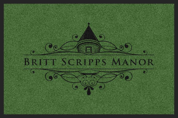 BRITT SCRIPPS MANOR (K9) 2 X 3 Rubber Backed Carpeted HD - The Personalized Doormats Company