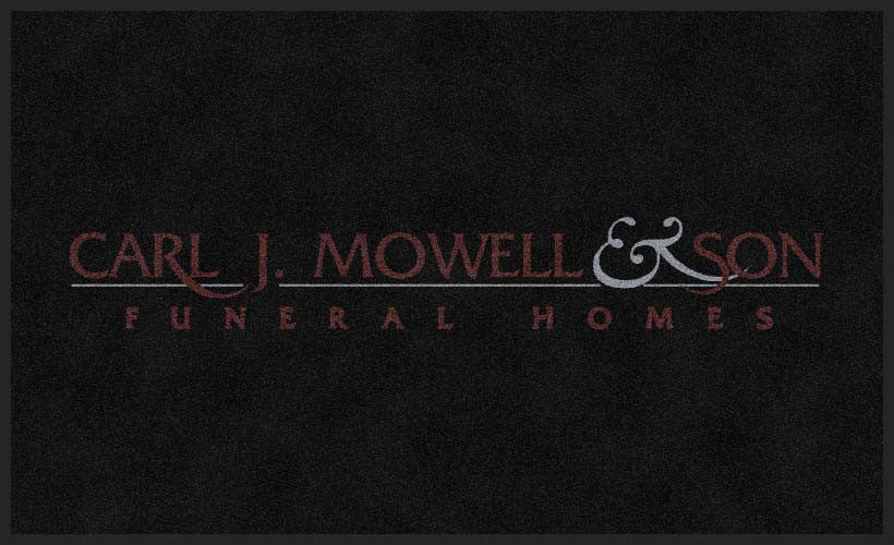 CARL J MOWELL & SON 3 X 5 Rubber Backed Carpeted HD - The Personalized Doormats Company