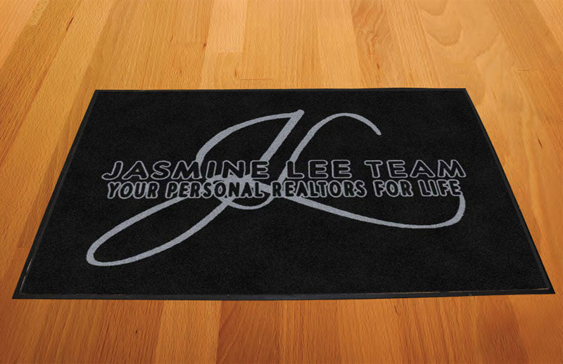 Jasmine Lee Team 2 X 3 Rubber Backed Carpeted HD - The Personalized Doormats Company