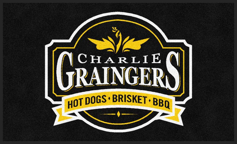 Charlie Graingers 3 X 5 Rubber Backed Carpeted HD - The Personalized Doormats Company