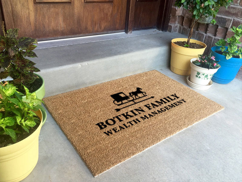 BFWM Logo Mat 2 X 3 Flocked Classic Coir (PDC) - The Personalized Doormats Company