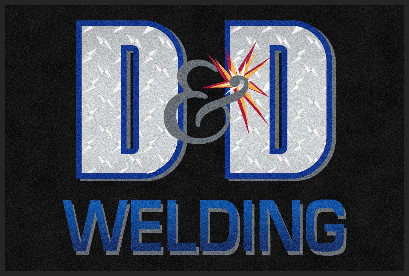 D&D Welding 4 X 6 Rubber Backed Carpeted HD - The Personalized Doormats Company