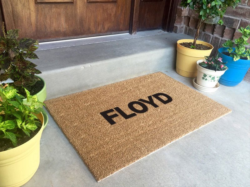FLOYD 1 2 X 3 Flocked Classic Coir (PDC) - The Personalized Doormats Company