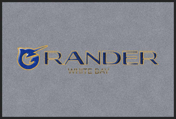Grander 2 X 3 Rubber Backed Carpeted HD - The Personalized Doormats Company