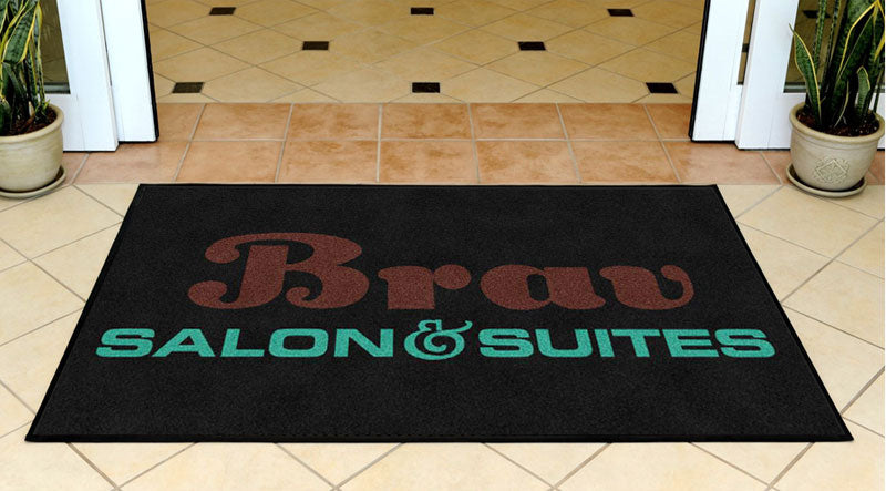 Brav Salon & Suites 3 X 5 Rubber Backed Carpeted HD - The Personalized Doormats Company