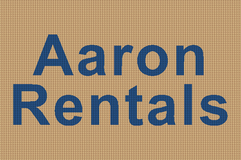 Aaron Rentals 2 X 3 Waterhog Inlay - The Personalized Doormats Company