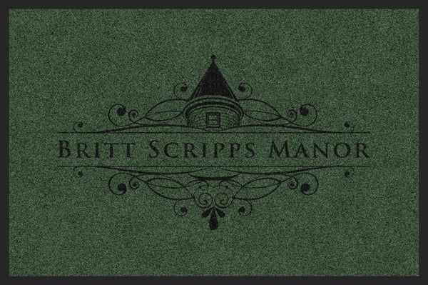 BRITT SCRIPPS MANOR (L6) 2 X 3 Rubber Backed Carpeted HD - The Personalized Doormats Company