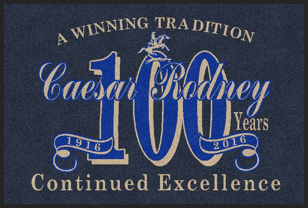 Caesar Rodney 100 Year 4 X 6 Rubber Backed Carpeted HD - The Personalized Doormats Company