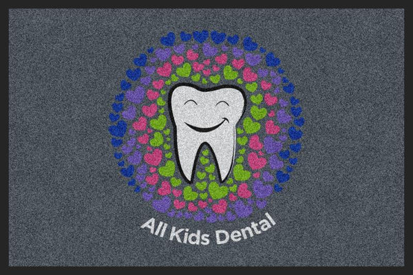 All Kids Dental 2 X 3 Rubber Backed Carpeted HD - The Personalized Doormats Company