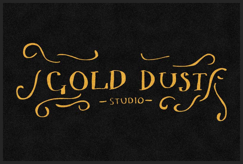 Gold Dust Studio 4 X 6 Rubber Backed Carpeted HD - The Personalized Doormats Company