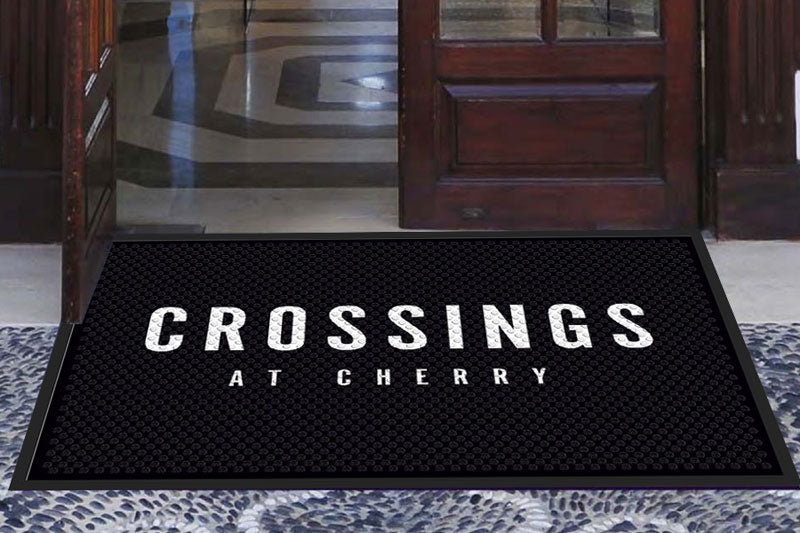 Crossings at Cherry 3 X 5 Rubber Scraper - The Personalized Doormats Company