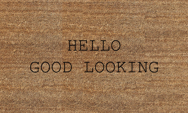 Hello Good... (FILAMENT HOSPITALITY) 18 X 30 Flocked Classic Coir (PDC) - The Personalized Doormats Company