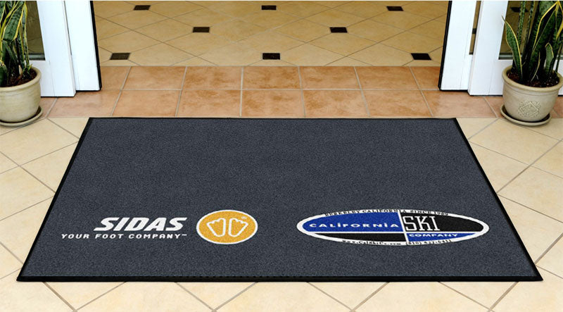 "California Ski Company- Grey 40""x 58"" 3.33 X 4.83 Rubber Backed Carpeted HD - The Personalized Doormats Company"