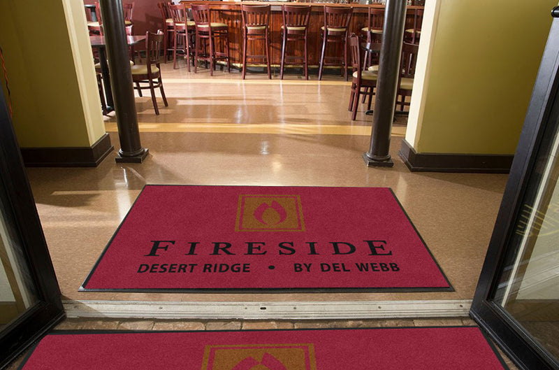 Fireside at Desert Ridge 4 X 6 Rubber Backed Carpeted HD - The Personalized Doormats Company