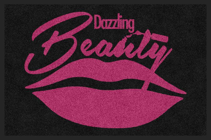 Dazzling Beauty 2 X 3 Rubber Backed Carpeted HD - The Personalized Doormats Company