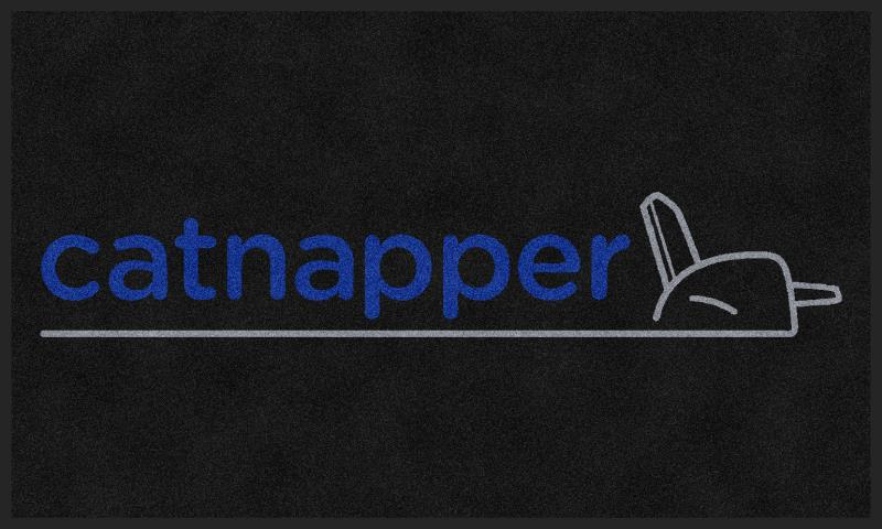 Catnapper 3 X 5 Rubber Backed Carpeted HD - The Personalized Doormats Company